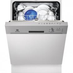Masina de spalat vase semi incorporabila Electrolux ESI5201LOX, 13 Seturi, 5 Programe, Clasa A+, 60 cm, Gri
