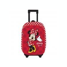 Ghiozdan Troller Clasele 1-4 3D 2 fermoare Minnie Mouse Rosu si minge cadou