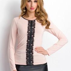 Bluza Sunwear detaliu dantela - P22-5-61 roz - Bluza dama, Marime: 46, 48