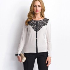 Bluza Sunwear detaliu dantela - art. P71-5-68 alb - Bluza dama, Marime: 38, 40, 42, 44, 46, 48