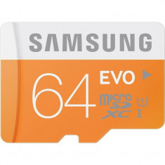 Card Samsung microSDXC Evo 64GB Class 10 UHS-1 cu adaptor SD - Card memorie
