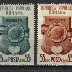 RRR CAMPIONATELE MOND. DE TENIS DE MASA LP.341 MNH - Timbre Romania, Nestampilat