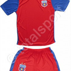 Compleu Echipament FOTBAL pt copii 10-11 ani FC STEAUA Bucuresti - Set echipament fotbal, Marime: YL