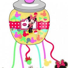 Pinata petrecere cu panglici model Minnie Caffe - Pinata petreceri copii