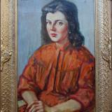 Portret de femeie - semnat Manciulescu - Pictor roman, Portrete, Ulei, Altul