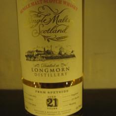 Whisky, longmorn distillery, 21 years, cl 70 gr 49, 7 distilled 92 bottles 2014