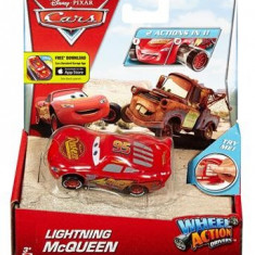 Masinuta Disney Cars Wheel Action Drivers Lightning Mcqueen - Masinuta electrica copii Mattel