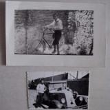 LOT DOUA FOTOGRAFII- BICICLIST +SOFER