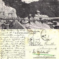 Baia Sprie, Felsobanya- mina, minerit - Carte Postala Maramures 1904-1918, Circulata, Printata