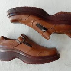 Sandale / pantofi TJTJ, piele naturala; marime 41 (25.5 cm talpic interior) - Sandale barbati, Culoare: Din imagine