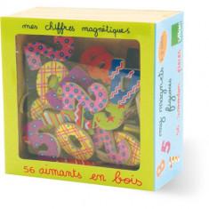 Cifre Magnetice in Cutie Lemn - Jocuri Litere si Cifre