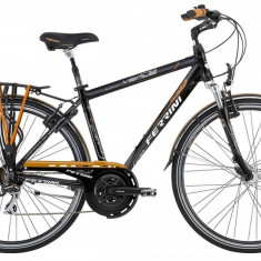 Bicicleta pliabile - Bicicleta Barbati, Ferrini, Venue Man Tourney 21V, 28 inch, cadru 520mm, Negru-Maro FERRINI
