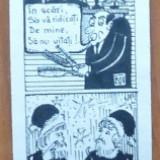Autograf - Colaj de caricaturi de Viorel Corodescu Cov din Suceava cu ocazia Anului Nou1983