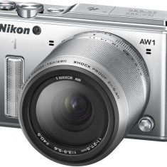Aparat Foto compact - Aparat foto digital Nikon 1 AW1 Kit 11-27.5mm (silver)