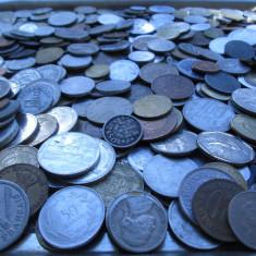 Monede Romania - Lot (5) mare 500 monede vechi romanesti si straine, monezi bani diverse tari