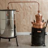 Cazan Tuica 60 Litri Basculant, Cupru Pur, Instalatie Completa, Promotie