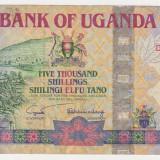 bancnota africa, An: 2004 - UGANDA5000 shillings 2004 VF-