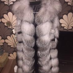 Vesta dama - Vesta blana vulpe argintie SALE!