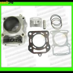 Set cilindri Moto - CILINDRU ATV 250cc Piston 67mm CG250 Racire Apa set motor ATV 250 Apa