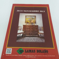 CATALOG LICITAȚIE LAMAS BOLANO NOIEMBRIE 2013/ BIJUTERII, ANTICHITĂȚI, PICTURĂ