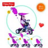 Tricicleta copii - Tricicleta 3 in 1 Charisma Roz