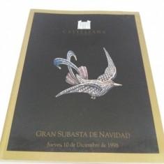 CATALOG LICITAȚIE BIJUTERII CASTELLANA SUBASTAS/ DECEMBRIE 1998