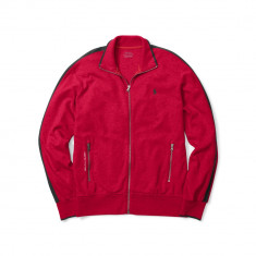Bluzon Ralph Lauren Interlock Full-Zip masura S M - Bluza barbati Ralph Lauren, Culoare: Rosu, Cu fermoar