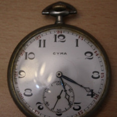 CEAS VECHI DE BUZUNAR -SWISS MADE-CYMA-D=5CM - Ceas de buzunar vechi