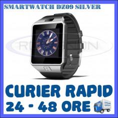 CEAS Smartwatch 4P-Touch DZ09 ARGINTIU - FUNCTIE GSM TELEFON, TOUCHSCREEN - GARANTIE 1 AN