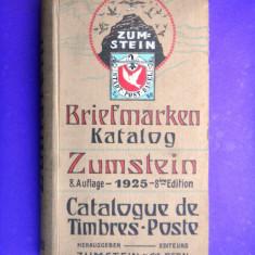 BRIEFMARKEN KATALOG ZUMSTEIN Europa an ap 1925 Catalog de timbre
