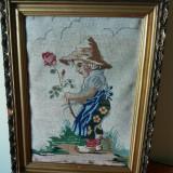 Tapiterie Goblen - Goblen vechi inramat, 38 x 28 cm