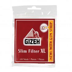 Foite tigari - Filtre cartel GIZEH LONG pentru rulat tutun / tigari