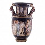 Vaza din ceramica decorata cu foita de aur 24K, 10 cm