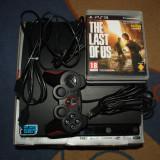 Consola PS3 SLIM 320Gb Accesorii, Cutie, 4 jocuri( The last of us,Uncharted etc)