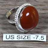 Superb inel stantat argint 925 cu Carneol. Marimea 7.5 - descriere cristal - Inel argint