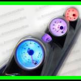 Turometru Voltmetru Temperatura Apa cu suport stalp - Ceas Auto