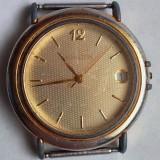 Ceas de barbati M Watch Swiss Made placat cu aur - Ceas barbatesc, Casual, Quartz, Data, Analog
