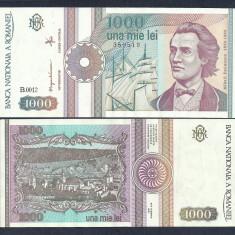 ROMANIA 1000 1.000 LEI 1991 UNC [0] serie cu punct, necirculata, An: 1991