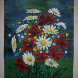 Tablou, Flori, Ulei, Realism - ION EMIL LUNGEANU (1930-2007)FLORI, ulei pe panza