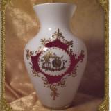 Vaza stil epoca Romantica, opalescenta, Aur 24k - Vaza sticla