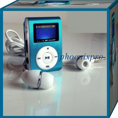 MP3 PLAYER RADIO FM, Albastru, Display, FM radio