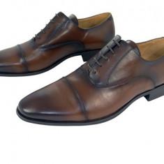 Pantofi eleganti barbati piele naturala Denis-1289 m - Pantofi barbati, Marime: 39, 40, 41, 42, 43, 44, 45, Culoare: Maro