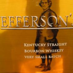 whisky - R A R E  Whiskey  jeffersons, boubon ,  cl.70 gr. 41,2  U.S.A.