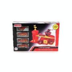 Masinuta de jucarie - Garaj cu masinute de pompieri