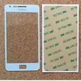 Sticla Display Fata Samsung Galaxy S2 i9100 ALB + adeziv si kit ustensile - Display LCD