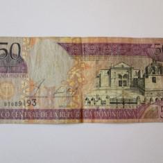 REP.DOMINICANA 50 PESOS ORO 2002 - bancnota america