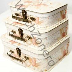 Trei cutii pentru depozitare bijuterii organizare bijuterii gablonturi make-up