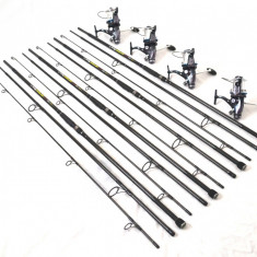 Set 4 lans. EXCELLENT 3, 6m, 4 lbs, 3 trons. carbon cu 4 mul. Ultra Long 9+1 R - Lanseta