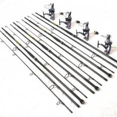 Set 4 lans. EXCELLENT 3, 6m, 4 lbs, 3 trons. carbon cu 4 mul. Ultra Long 9+1 R - Lanseta