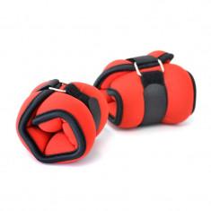 Gantere/Haltere - Greutati Incheieturi Fitness, Master Sport, Neopren&Velcro, 2 x 0.5 kg